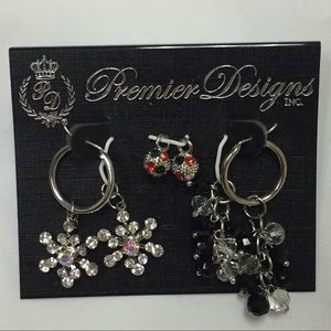 Premier Designs Holiday Medley Christmas earrings